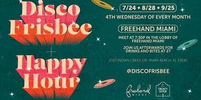 Disco Frisbee & Late Happy Hour