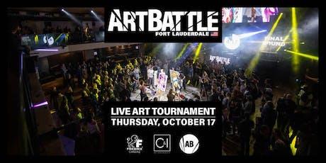 Art Battle Fort Lauderdale - October 17, 2019 tickets