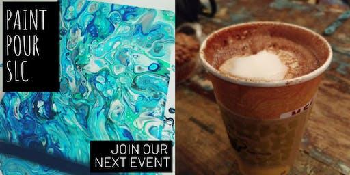 Paint Pour @Mestizo's Coffeehouse