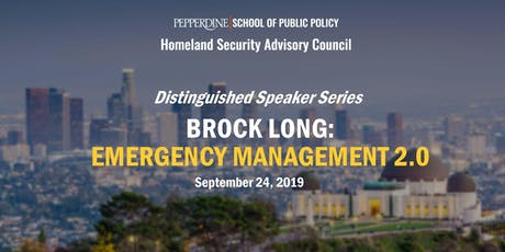 Brock Long: Emergency Management 2.0 tickets