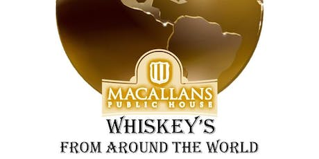 5-Course Whiskey's from around the World Whiskey/Dinner Pairing tickets