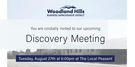 Woodland Hills Business Improvement District - Discovery Meeting tickets