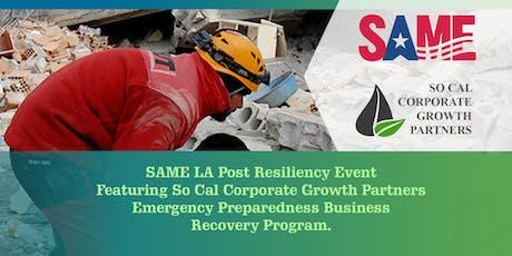 Emergency Preparedness Business Recovery Program tickets