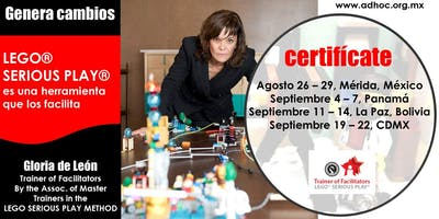 Certificación en LEGO SERIOUS PLAY METHOD - Assoc. of Master Trainers in the LEGO SERIOUS PLAY METHOD - Dinamarca