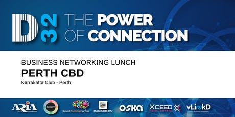 District32 Business Networking Perth – Perth CBD - Thu 10th Oct tickets