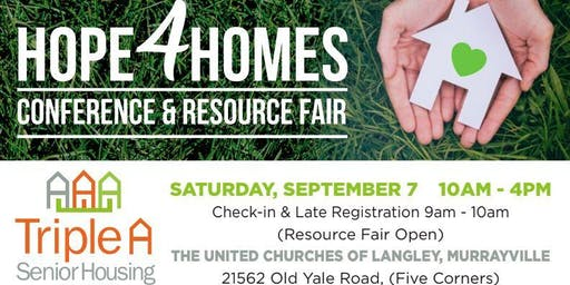 HOPE4HOMES Conference & Resource Fair