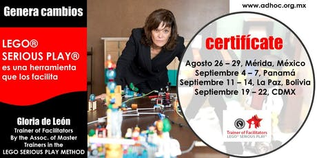 Certificación en LEGO SERIOUS PLAY METHOD - Assoc. of Master Trainers LSP boletos