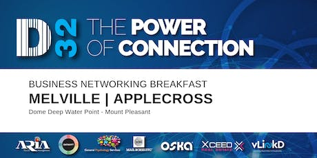 District32 Business Networking Perth– Melville / Mt Pleasant / Applecross Breakfast - Wed 23rd Oct tickets