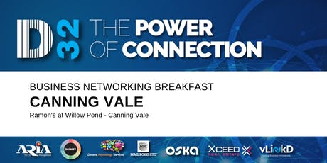 District32 Business Networking Perth – Canning Vale - Thu 31st Oct tickets