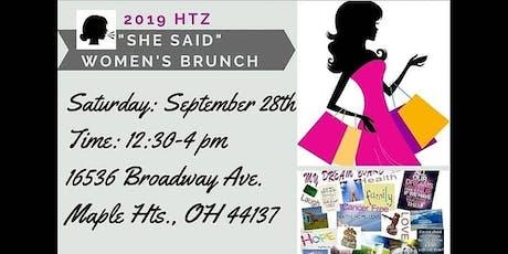 """She Said"" Women's Brunch : tickets"