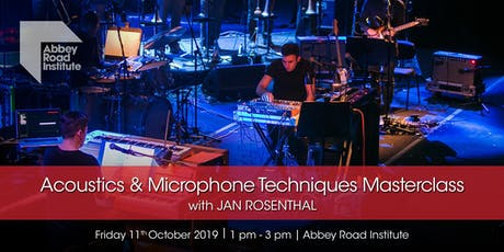 Jan Rosenthal Masterclass – FOH Acoustics & Microphone Techniques tickets
