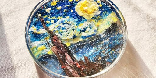 "Over The Moon: Starry Night Oil Painting Candle Workshop  與梵高賞月: ""星夜""油畫蠟燭工作"