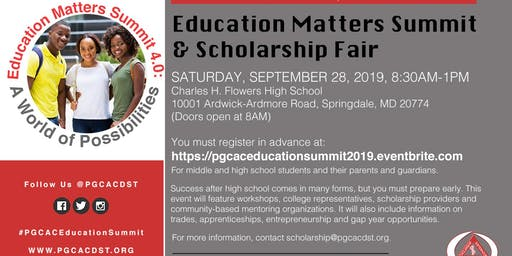 Education Matters Summit and Scholarship Fair 2019