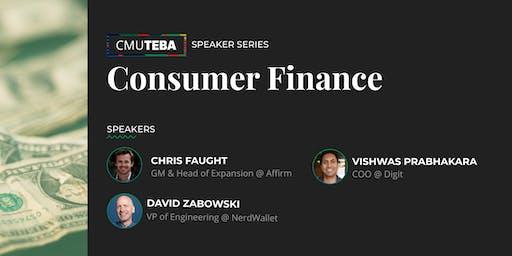 CMU TEBA Speaker Series: Consumer Finance
