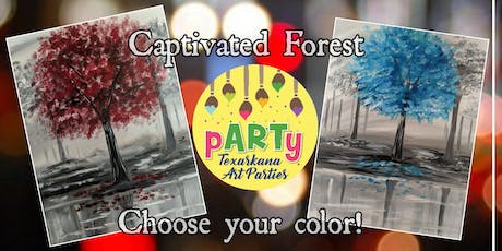 """Paint and Sip at Redbone with pARTy """"Captivated Forest"""" Choose your color! tickets"""