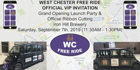 West Chester Free Ride Launch Party & Ribbon Cutting tickets