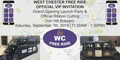 West Chester Free Ride Launch Party & Ribbon Cutting