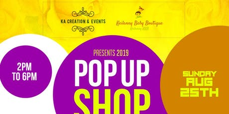 POP UP SHOP 2019 tickets