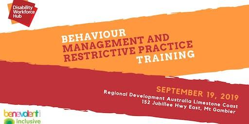 Behaviour Support & Restrictive Practice Training