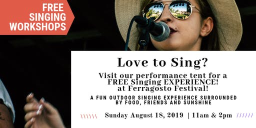 Free Singing Workshops! at Ferragosto Festival Five Dock