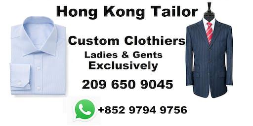 Hong Kong tailor trunk tour Costa Mesa - Bespoke Kahn tailor