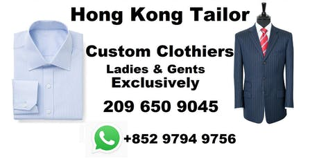 Hong Kong tailor trunk tour Fishkill New York - Bespoke Kahn Tailor tickets
