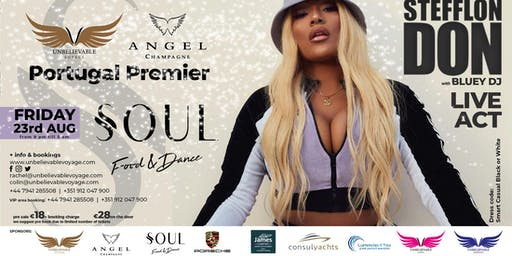 STEFFLON DON and DJ Bluey - live at Portugal's Premier Champagne Party