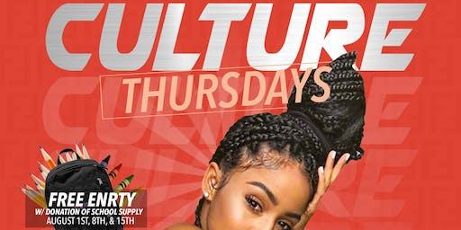 Culture THURSDAY