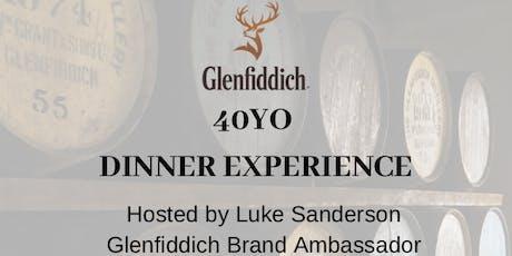 Glenfiddich 40 year old Dinner tickets