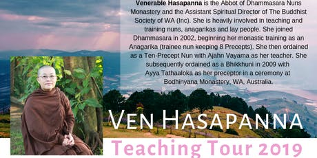 3-Day Meditation Retreat led by Ven Hasapanna tickets