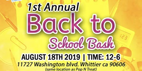 Back to School Bash! (free entrance) tickets