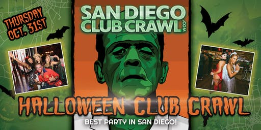 SAN DIEGO HALLOWEEN NIGHT CLUB CRAWL - Thursday, Oct 31st