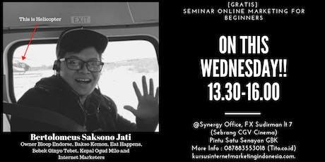 [GRATIS] Seminar Online Marketing For Beginners tickets