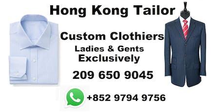 Hong Kong Tailor trunk tour jacksonville - bespoke Kahn tailor tickets