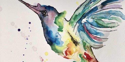 Watercolour Humming Bird (Dine in)