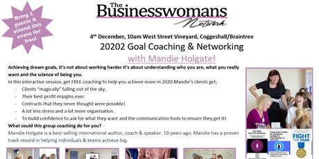 2020 Goals Coaching & Networking Coggeshall Event tickets