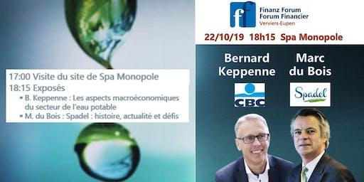 Visite de Spadel + exposés sur le thème de l'eau par Bernard Keppenne et Marc du Bois