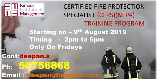 certified fire protection  training program