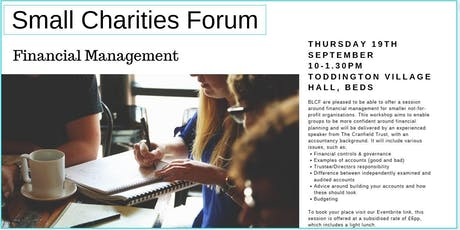 Small Charities Forum Bedfordshire tickets