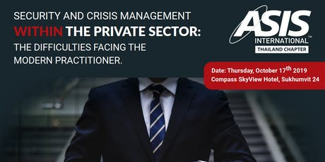 ASIS Thailand Security Conference 2019 tickets