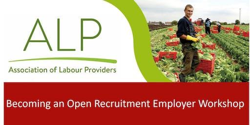 Becoming an Open Recruitment Employer Workshop - Spalding 25/09/2019
