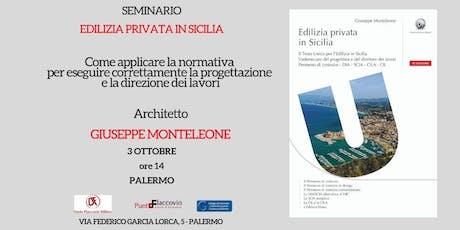 Edilizia privata in Sicilia - SEMINARIO GRATUITO biglietti