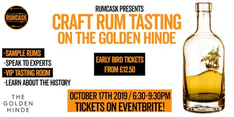 Craft Rum Tasting aboard The Golden Hinde tickets