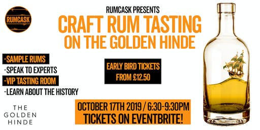 Craft Rum Tasting aboard The Golden Hinde