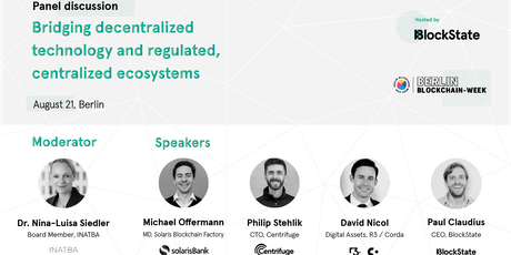 Berlin Blockchain Week: Bridging decentralized and centralized ecosystems tickets