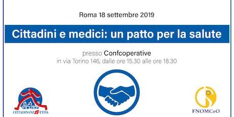 Cittadini e medici: un patto per la salute biglietti