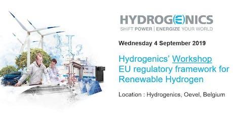 Hydrogenics' Workshop: EU regulatory framework for Renewable Hydrogen billets
