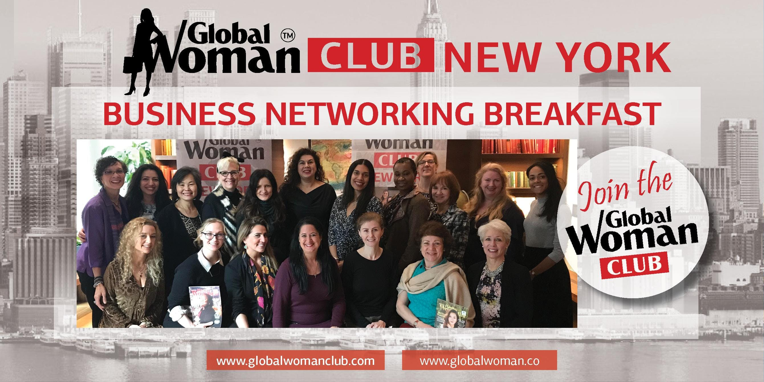 GLOBAL WOMAN CLUB NEW YORK BUSINESS NETWORKING BREAKFAST - OCTOBER