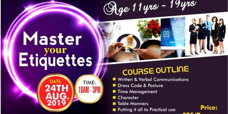Master YOUR Etiquettes tickets