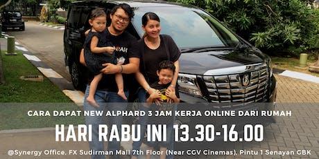 Cara Dapat NEW ALPHARD 3 Jam Kerja Online dari RUMAH tickets